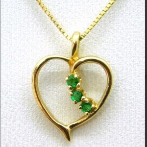 Jewelry - 14k Gold and Emerald necklace.